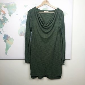 Anthropologie Pure + Good Tunic Dress Green Ribbed